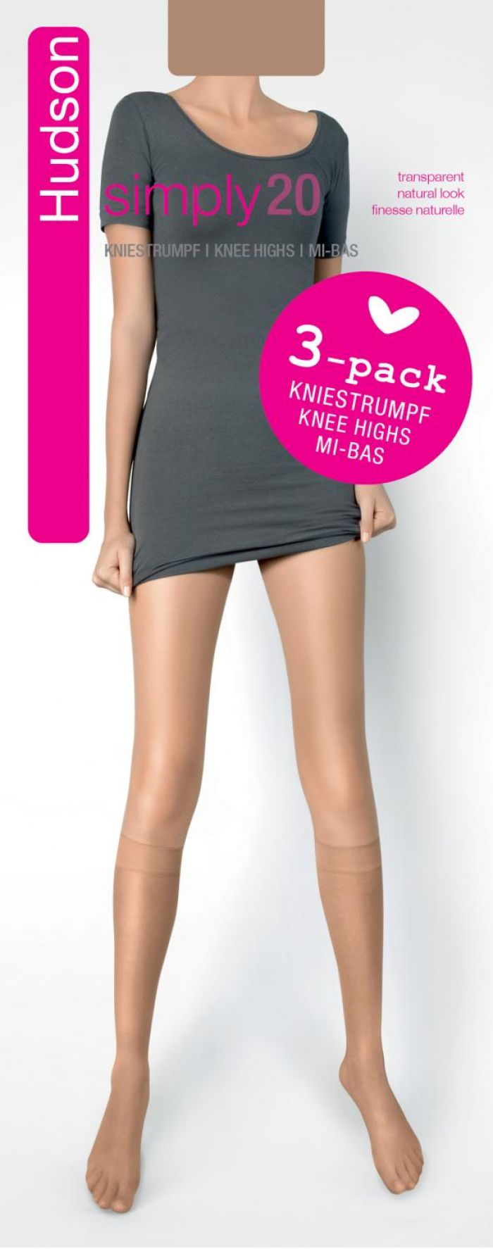 Hudson Simply Knee Highs 20 Denier Thickness, Simply | Pantyhose Library