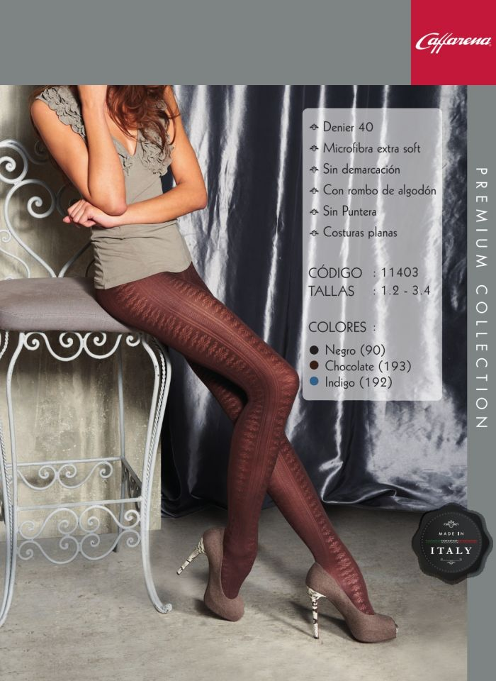 Caffarena 11403 40 Denier Thickness, Lookbook 2012 | Pantyhose Library