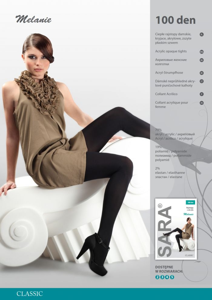 Sara Melanie 100 Denier Thickness, Catalog | Pantyhose Library