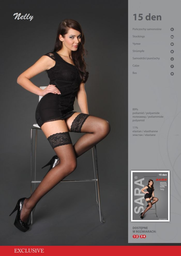 Sara Nelly 15 Denier Thickness, Catalog | Pantyhose Library