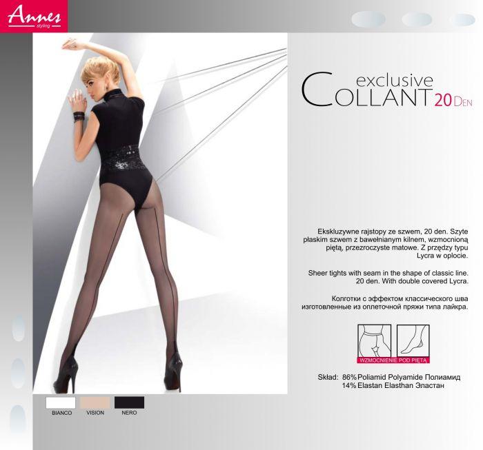 Annes Exclusive Collant 20 Denier Thickness, Styling | Pantyhose Library