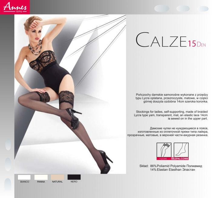 Annes Calze15 15 Denier Thickness, Styling | Pantyhose Library
