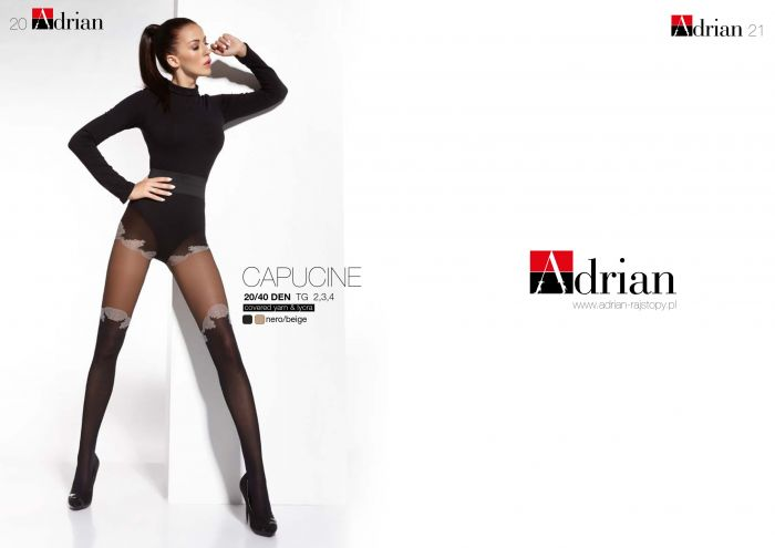 Adrian Capucine 20/40 Denier Thickness, FW 2016 | Pantyhose Library