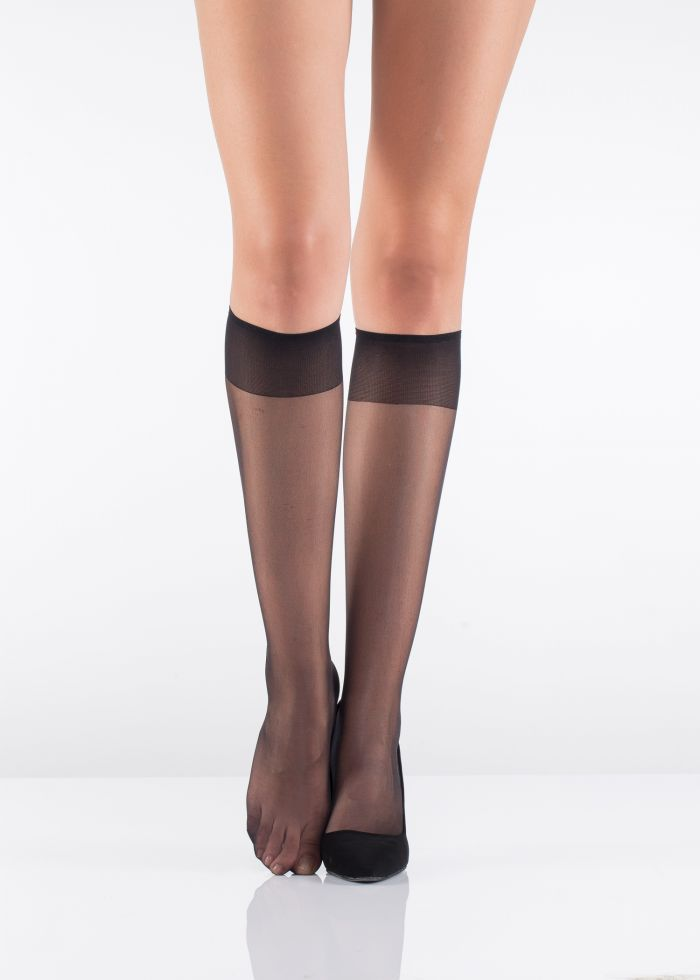 Italiana Fit 15 Burunsuz Dizalti Black  Socks 2016 | Pantyhose Library