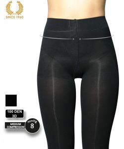 factor 8 support tights - shaping effect -100 den detail