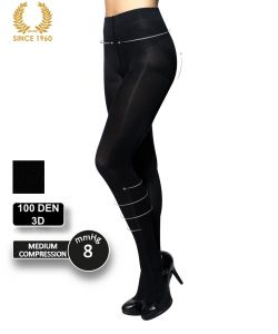 factor 8 support tights - shaping effect -100 den front