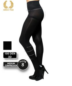 factor 8 support tights - shaping effect -100 den