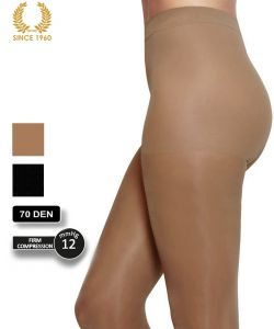 firm support tights factor 10 - 70 den side