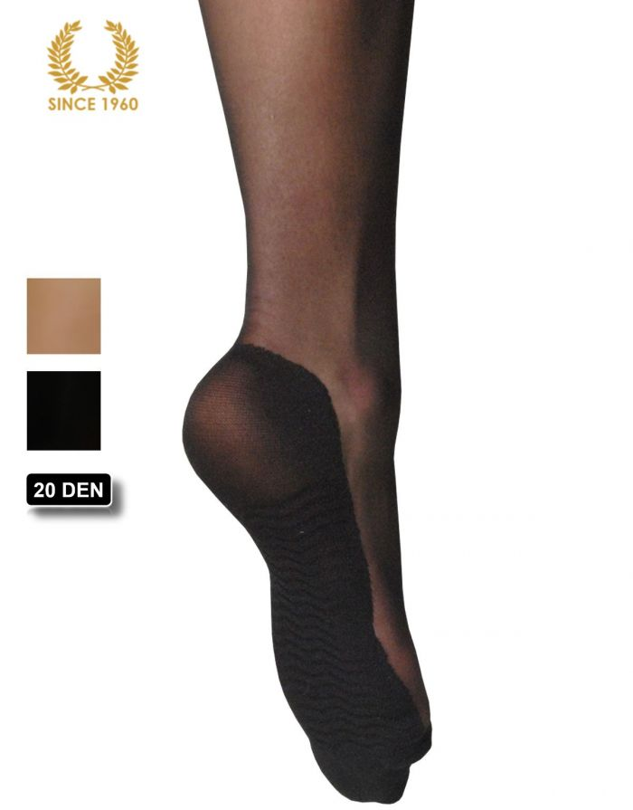 Calzitaly 6 X Knee High With Comfort Sole In Microfiber-20 Den Heel  Support Hosiery | Pantyhose Library