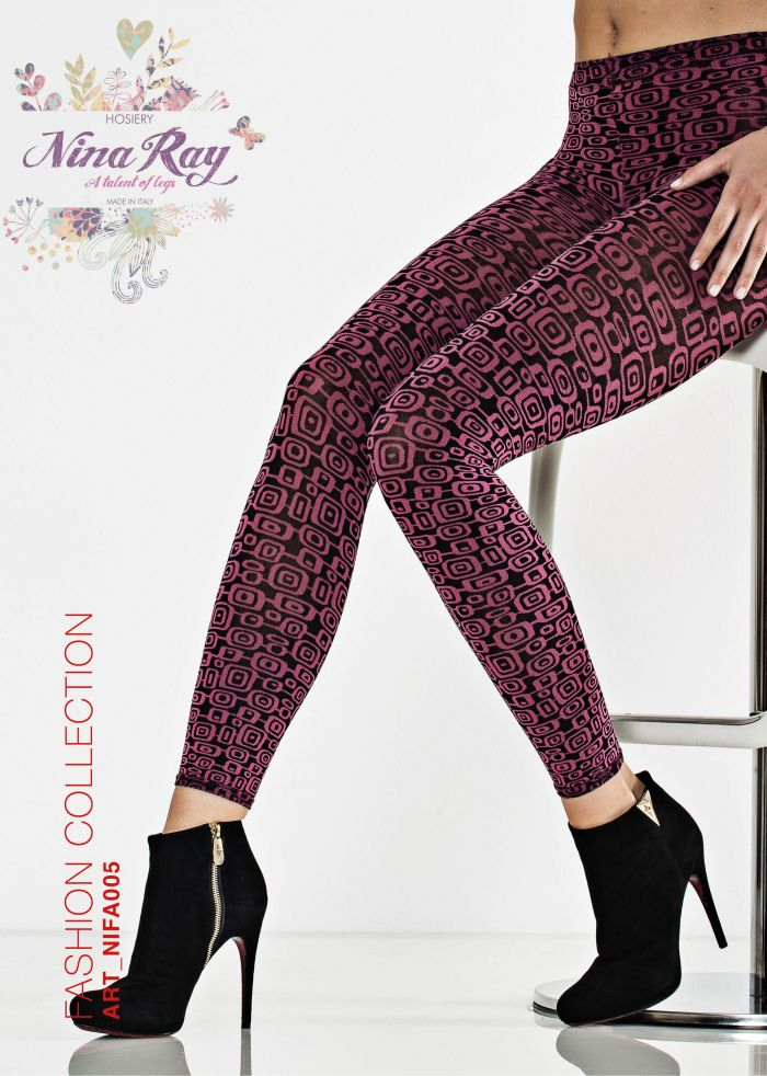 Nina Ray Multifiber Optical Pattern Leggings - 70  Fashion Collection | Pantyhose Library