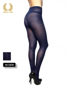 glitter tights with sparkly spots allover 40 den blue back