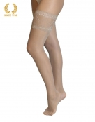 bridal lace top hold ups -15 den natural