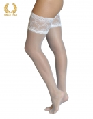 bridal lace top hold ups -15 den white