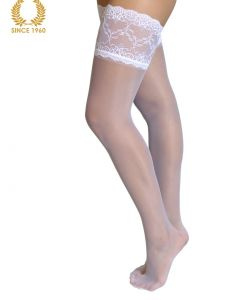 bridal lace top hold ups -15 den