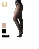 high heels tights with cushion - 10 den black side