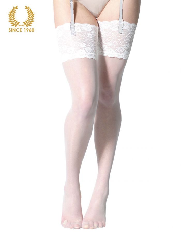 Calzitaly Bridal Stockings With Wide Floral Lace -15 Den Front  Bridal Tights 2017 | Pantyhose Library