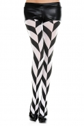 Black-And-White-Diagonal-Striped-Tights